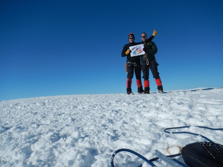The team from proARTICA: Iceland glacier  navigation and communications training - climbing the highest summit Hvannadahlsnukur