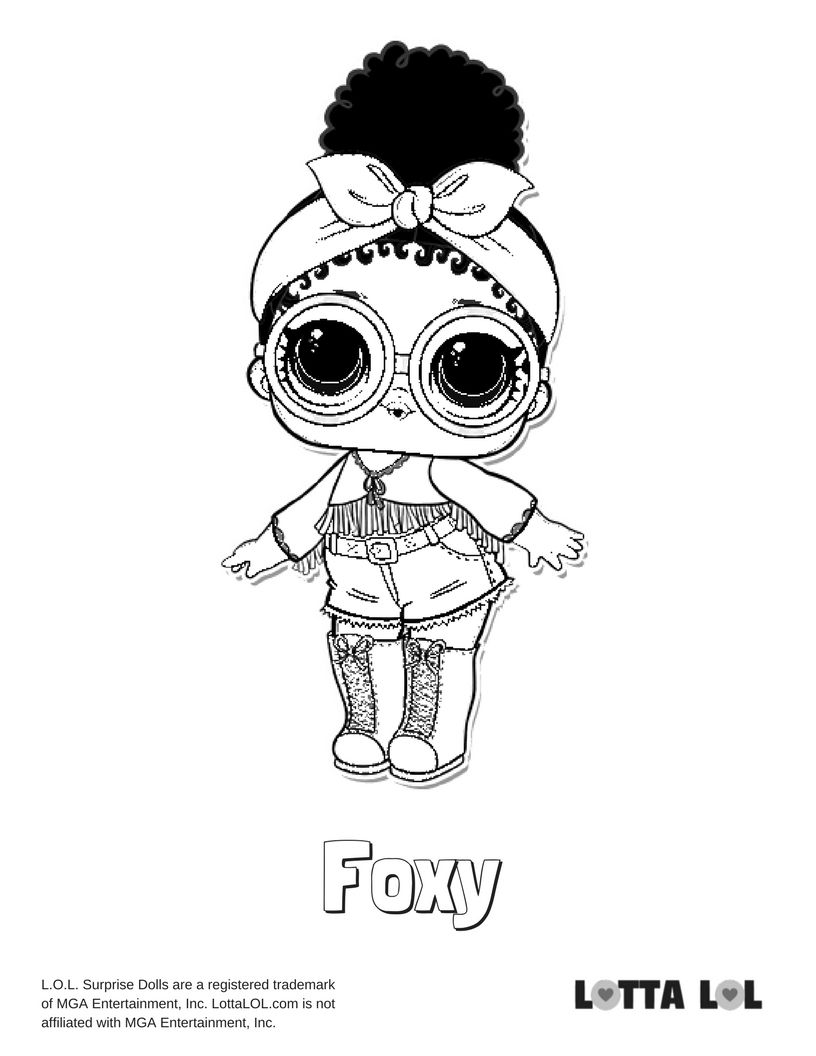 Foxy Coloring Page Lotta Lol With Images Lol Dolls Coloring