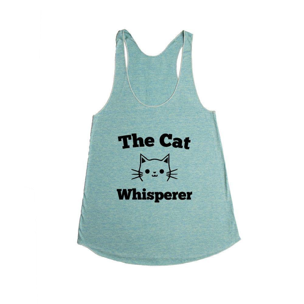 Cat Whisperer Kitty Kitties Cats Kitten Kittens Pet Pets Feline Felines Animals Animal Lover SGAL6 Women's Racerback Tank