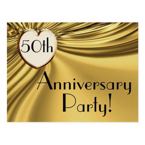 Elegant gold 50th anniversary invitation postcards anniversary elegant gold 50th anniversary invitation postcards stopboris Gallery