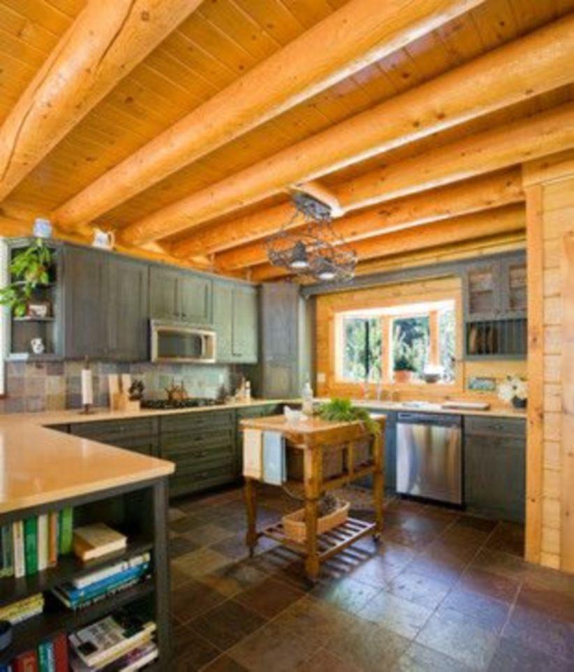 wooden kitchen floor designs are popular nowadays interior design cabin kitchens log homes also rh pinterest