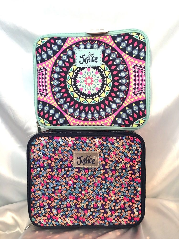 bce277e605fd You Pick Justice Girls Spring Lunch Box Bag Tote Medallion or Sequin NWT