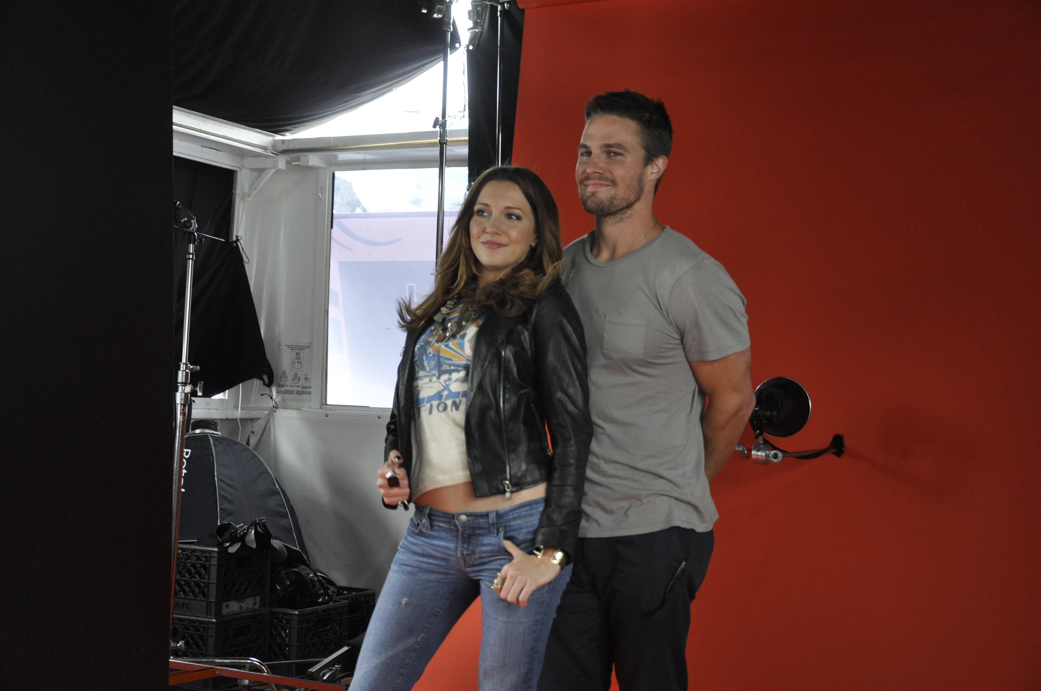 Arrow's Katie Cassidy and Stephen Amell
