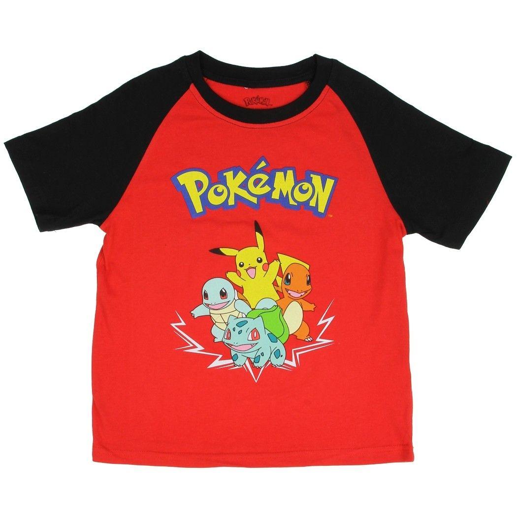 Pokemon Kanto Starters Pikachu Boy/'s Pajama Shorts Set