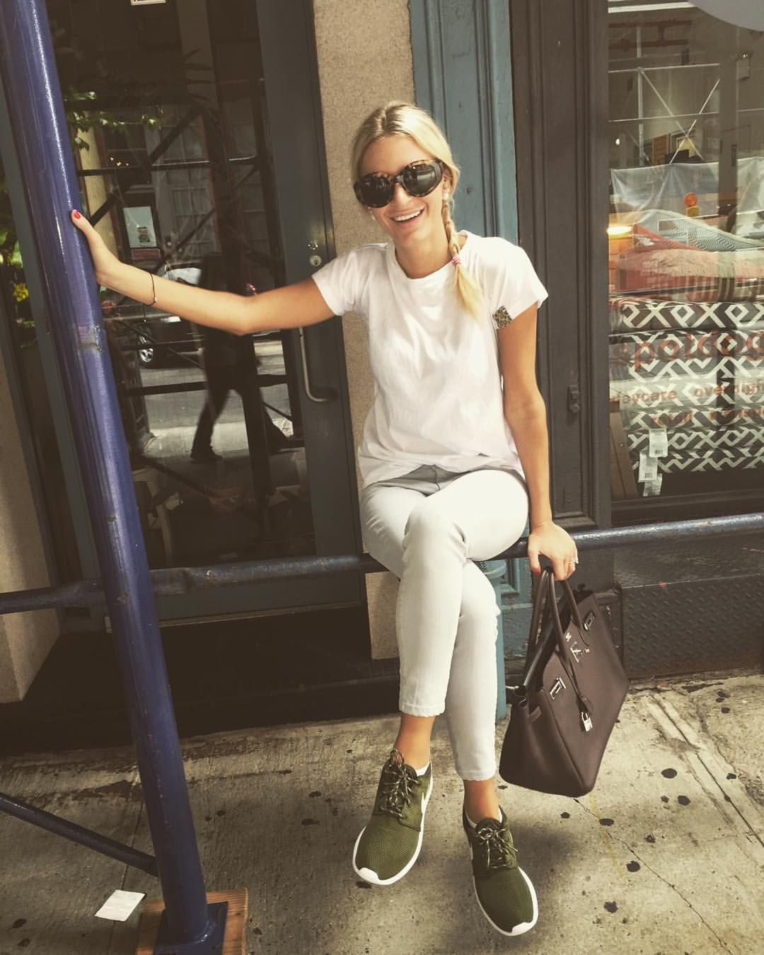 """on Instagram """"NYC"""" Olive shoes outfit, Fashion"""
