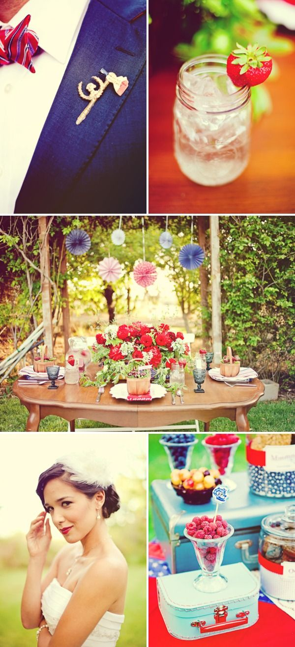 I like some of these ideas...even without the Red white & blue theme....check out the whole blog