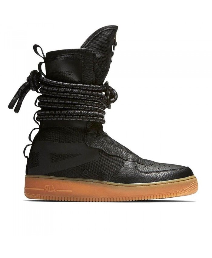 Nike Air Force 1 High Black Brown Shoes UK Sale