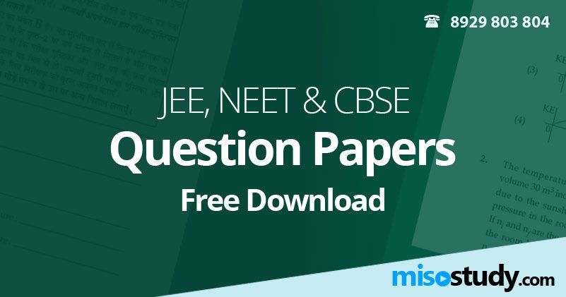 Jee Neet Cbse 2019 Previous Years Question Papers Sample Paper Sample Question Paper Question Paper