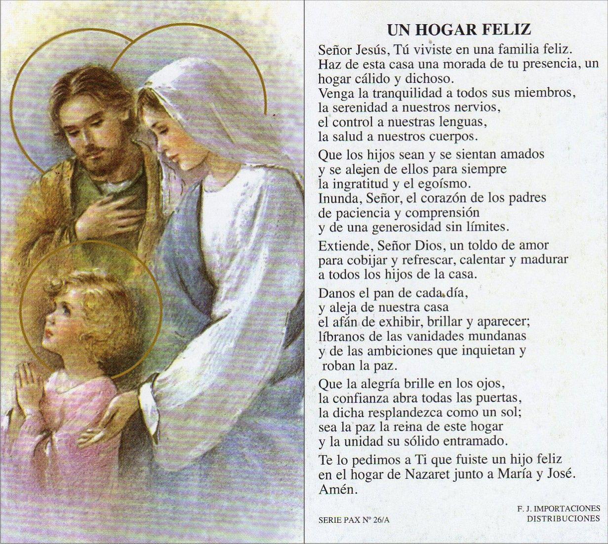 Apostolado de la Oración: Sagrada Familia de Jesús, María ...