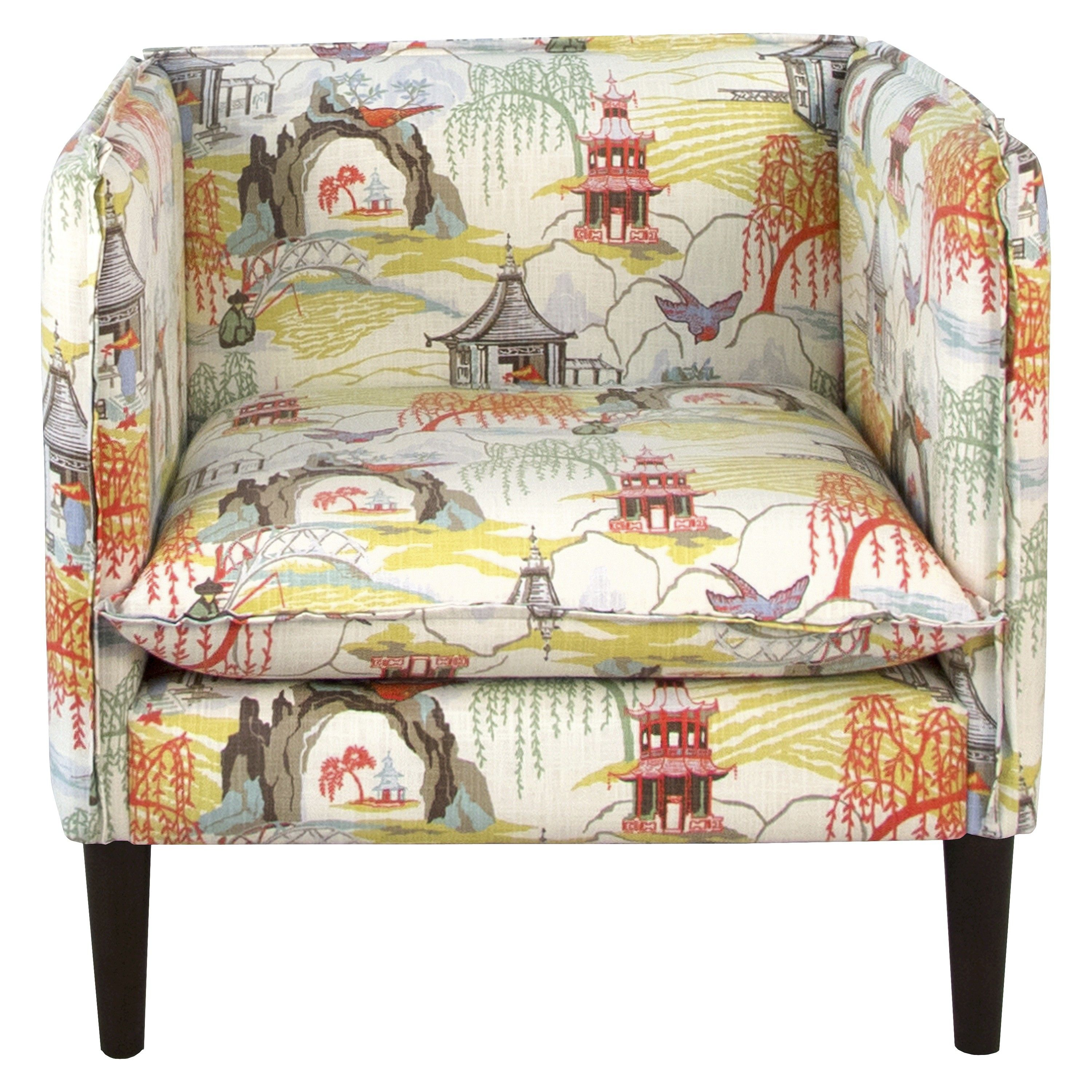 Skyline Accent Chair - Neo Toile Coral : Target