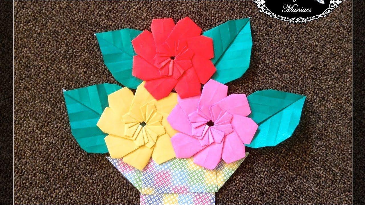 Origami Maniacs 261 8 Petal Flower Origami Pinterest Origami