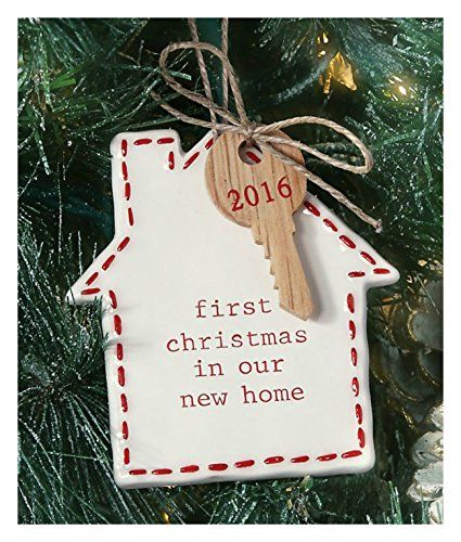 Mud Pie First Home Ornament Apartment Christmas Decorations Ceramic Holiday Decor