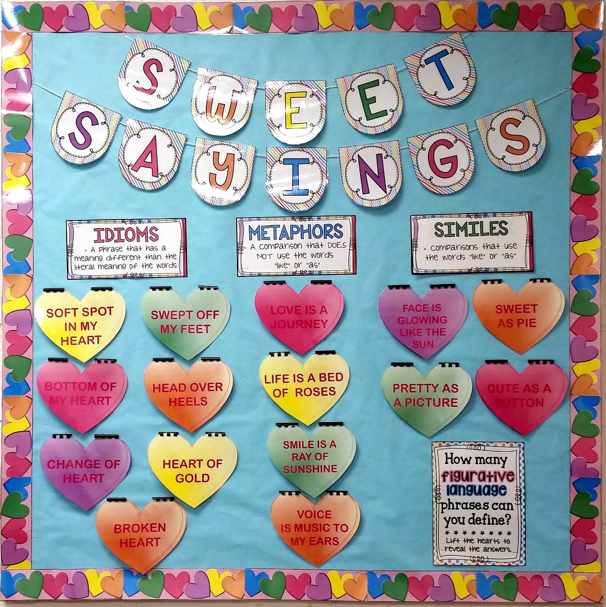 Figurative Language Valentine S Day Bulletin Board