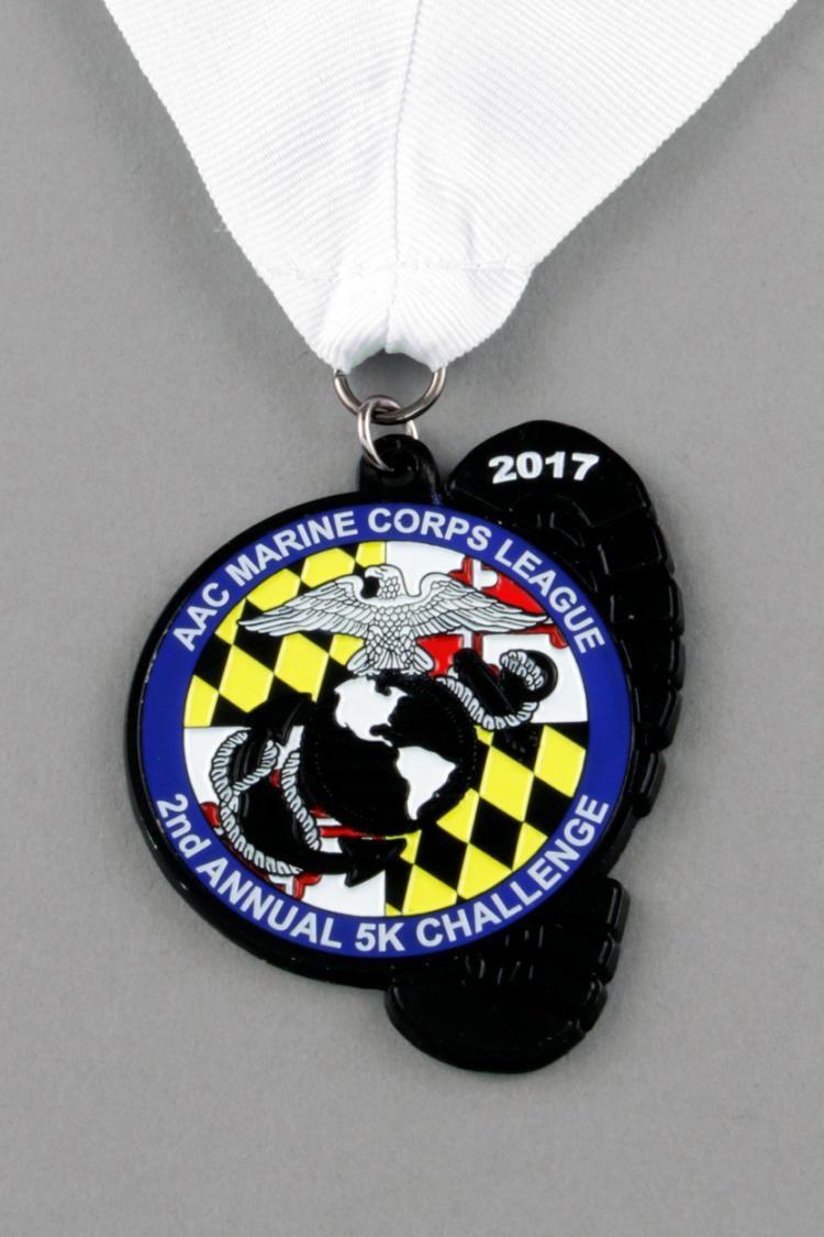 Custom Black Dye Patriotic & Service Race Medals | U S