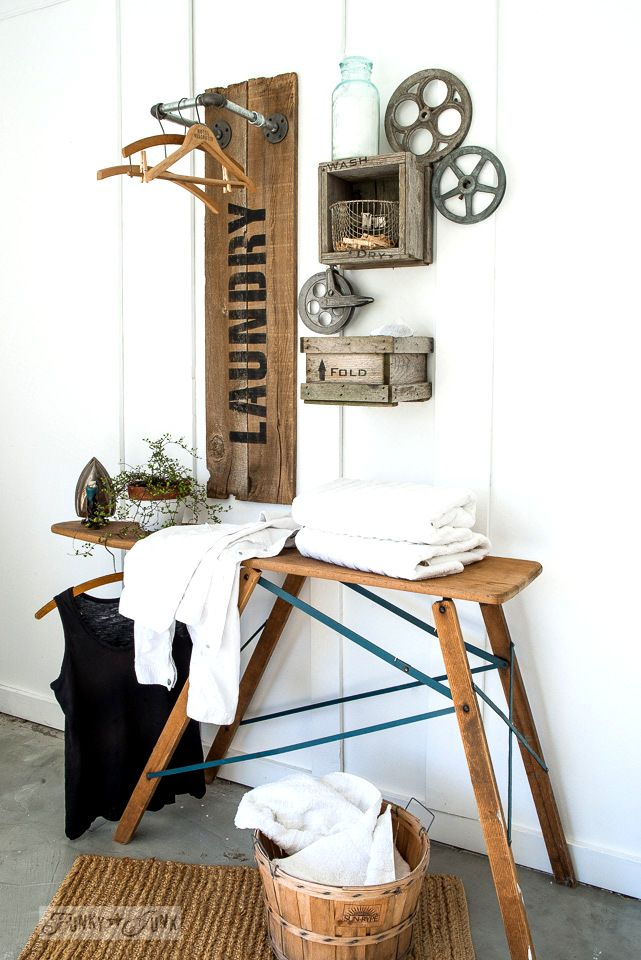 Hanging Laundry Sign Reclaimed Wood And Pipe Laundry Sign Hanging Station  Crate