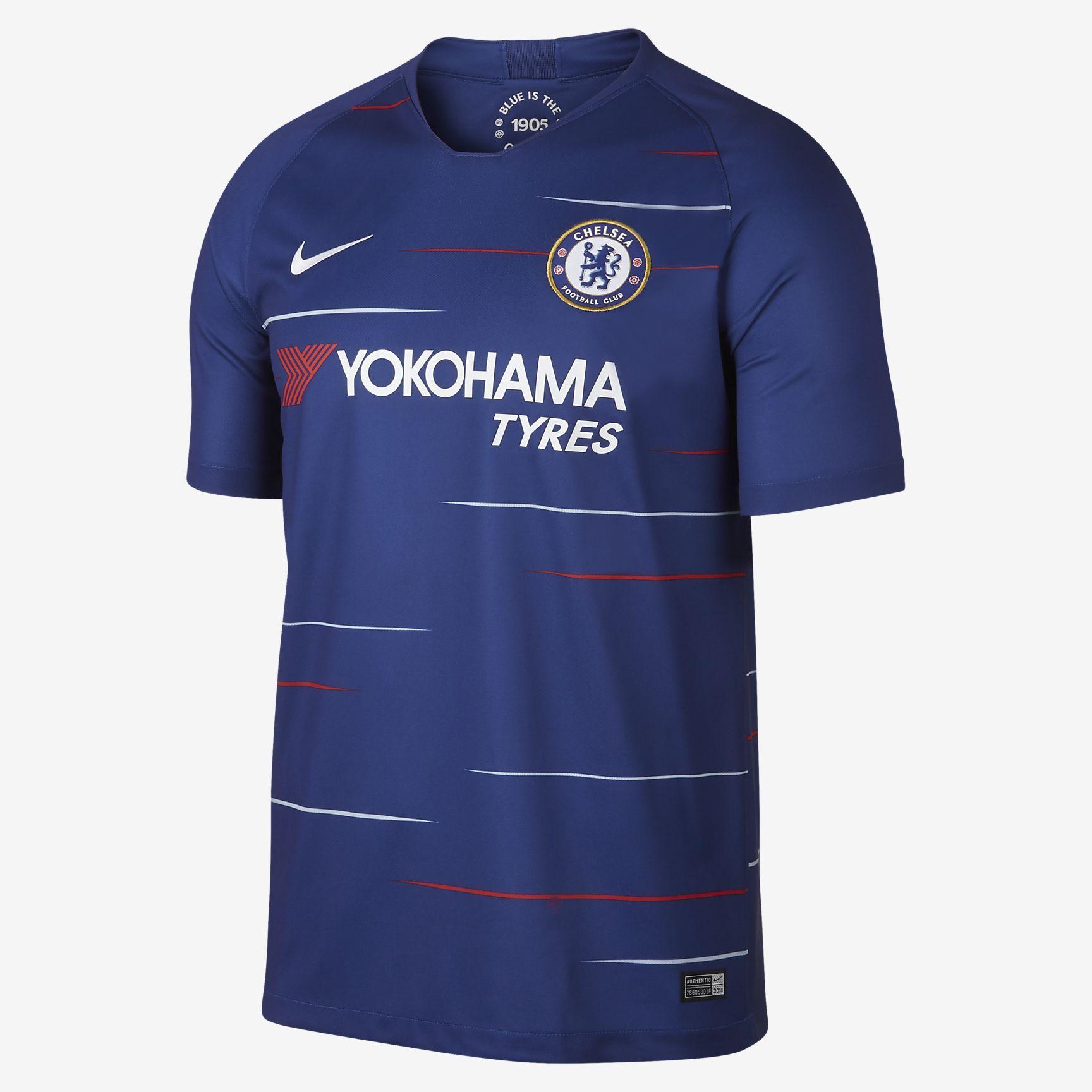 e73efad6c12 2018 19 Chelsea FC Stadium Home Men s Football Shirt