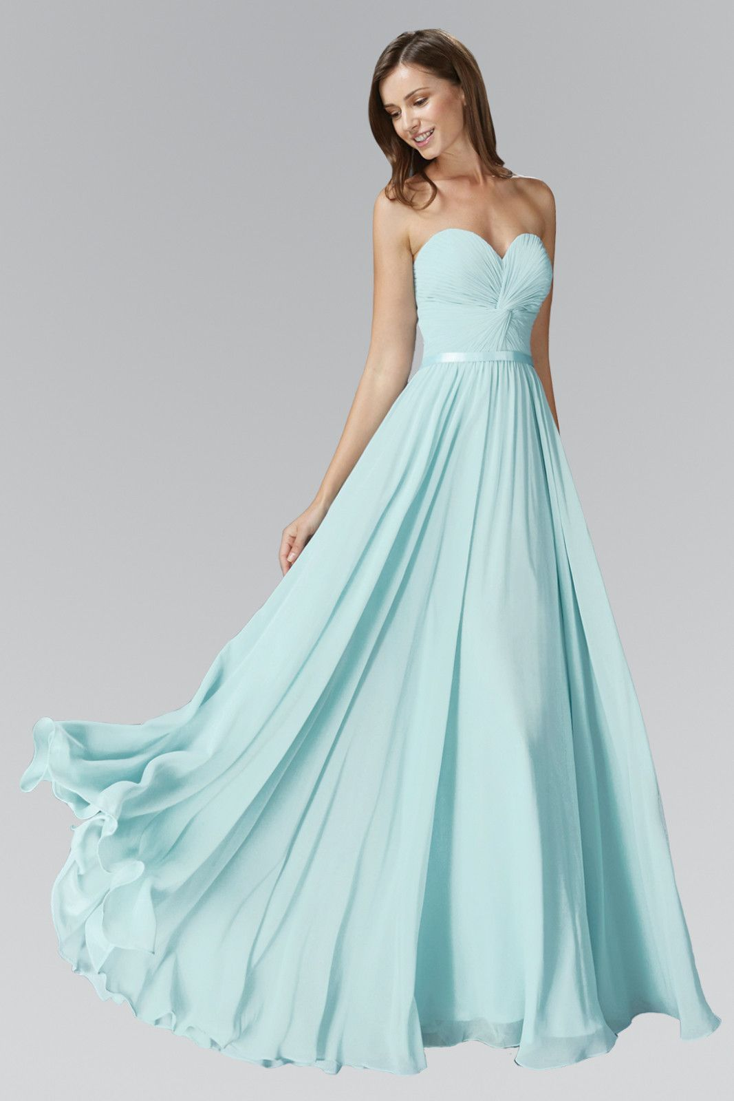 b755d213330c High End Floor length Chiffon Bridesmaid Dress in lovely pastel colors of  Rose