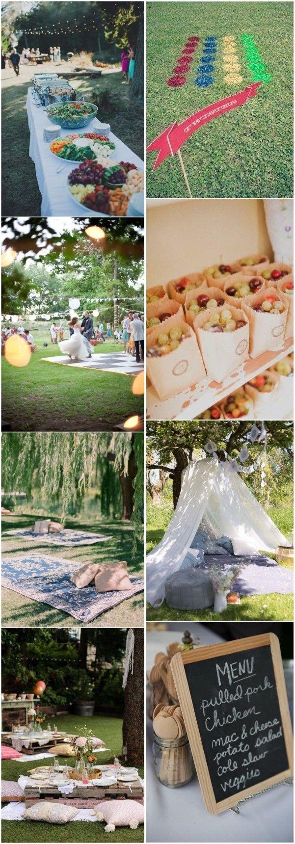 18 Budget Friendly Picnic Wedding Reception Ideas Picnic Wedding