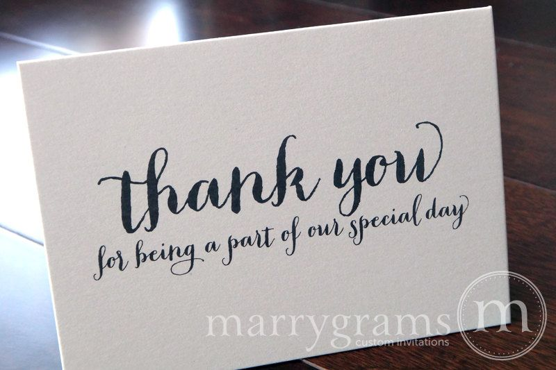 Thank You For Being A Part Of Our Special Day  Wedding Card