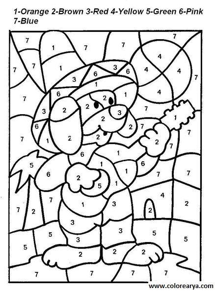 Dibujos para colorear por números - Imagui | Colores | Worksheets ...