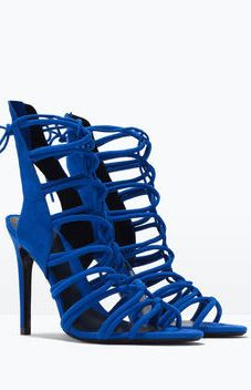 a6fd810e81 Royal Blue Strappy High Heels | WOMEN'S SHOES (we always need shoes ...