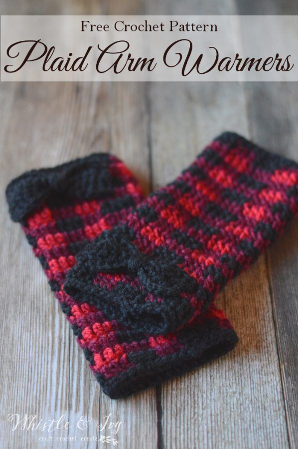 Crochet Plaid Arm Warmers | Muster, Häkeln und Häkelmuster