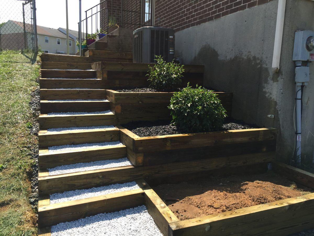 diy side yard landscaping idea