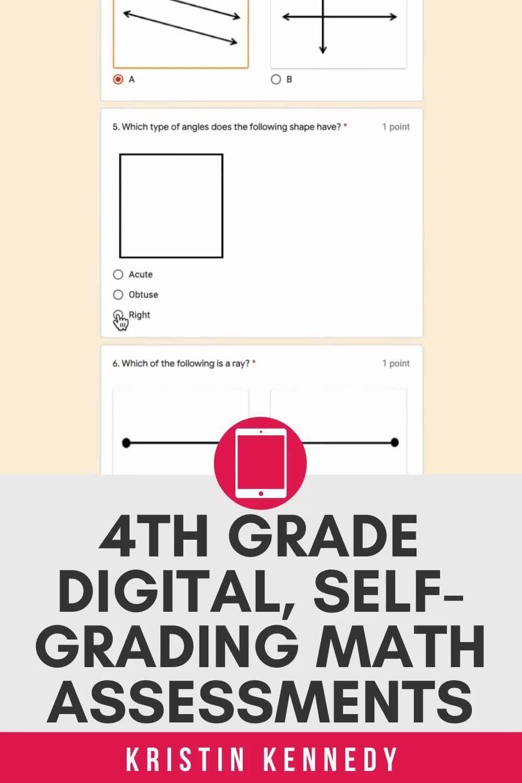 4th Grade Digital Math Assessments Self Grading Google Forms Video Math Assessment Google Classroom Math Google Classroom Activities [ 1500 x 1000 Pixel ]