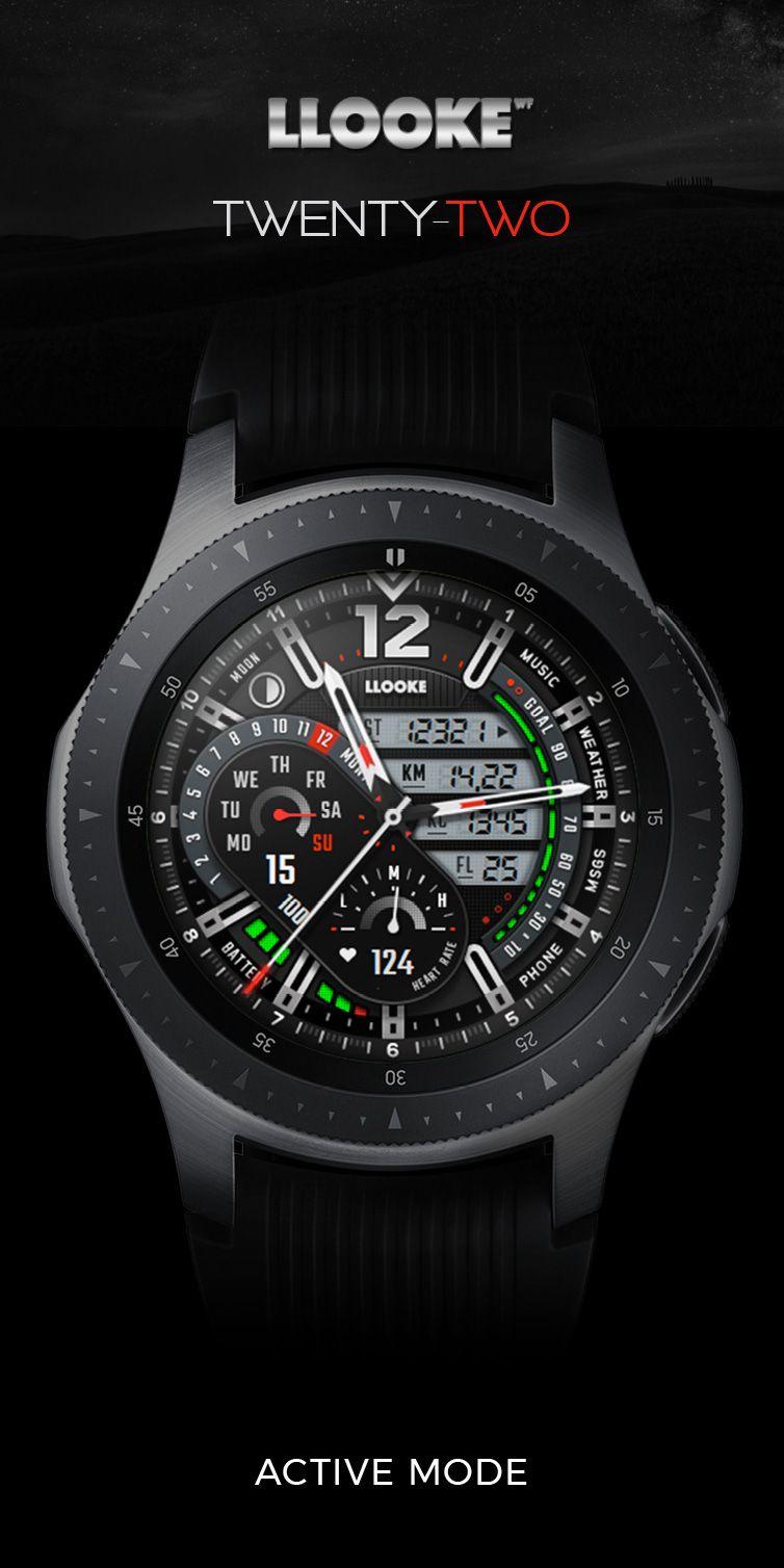LLOOKE Twentytwo Pro Watchface designed for Samsung