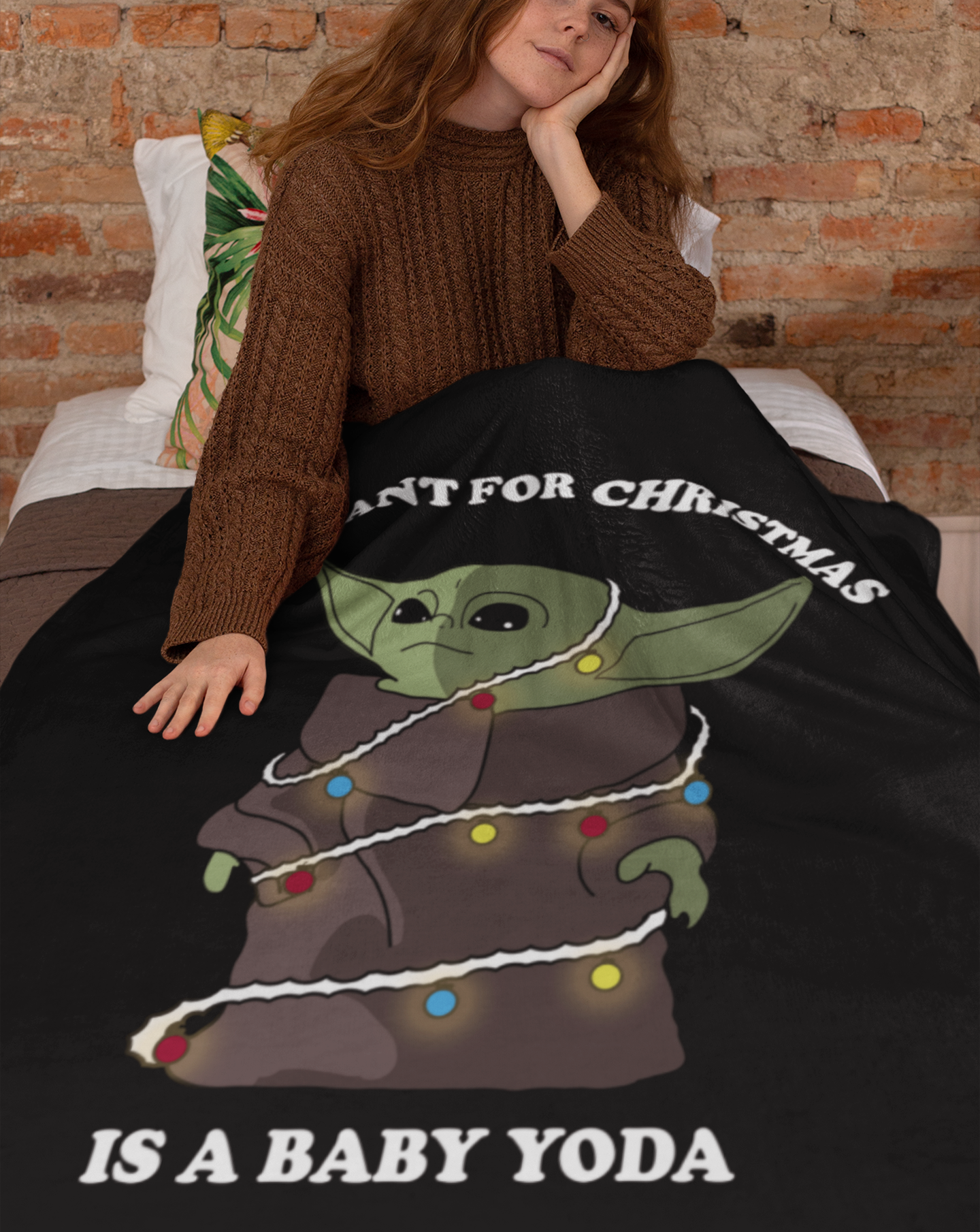 All I Want For Christmas Is A Baby Yoda Throw Blanket In 2020 Cozy Throw Blanket Yoda Christmas Throw Blanket