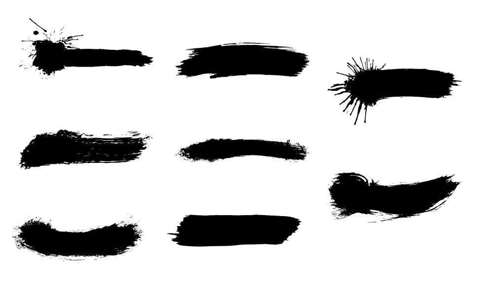 8 Brush Stroke Banners Vector Svg Png Transparent Vol