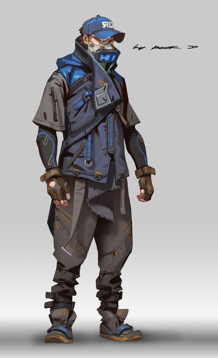 ArtStation - Cyberpunk style suit for myself, Rock D
