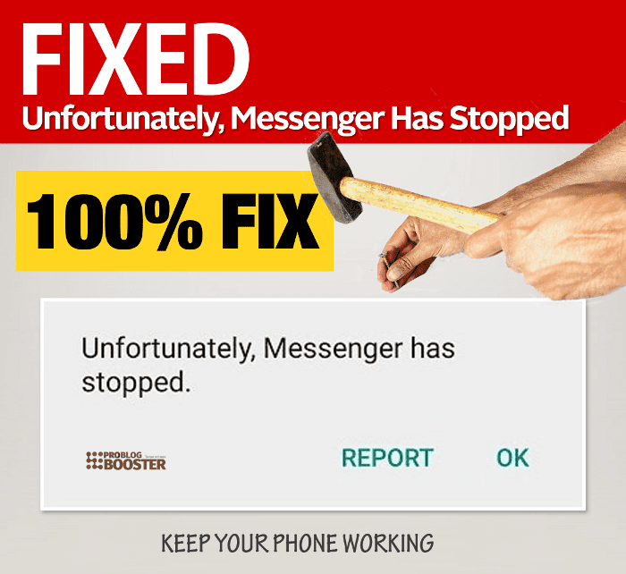 """Fixed] """"Unfortunately, Facebook Messenger Has Stopped"""