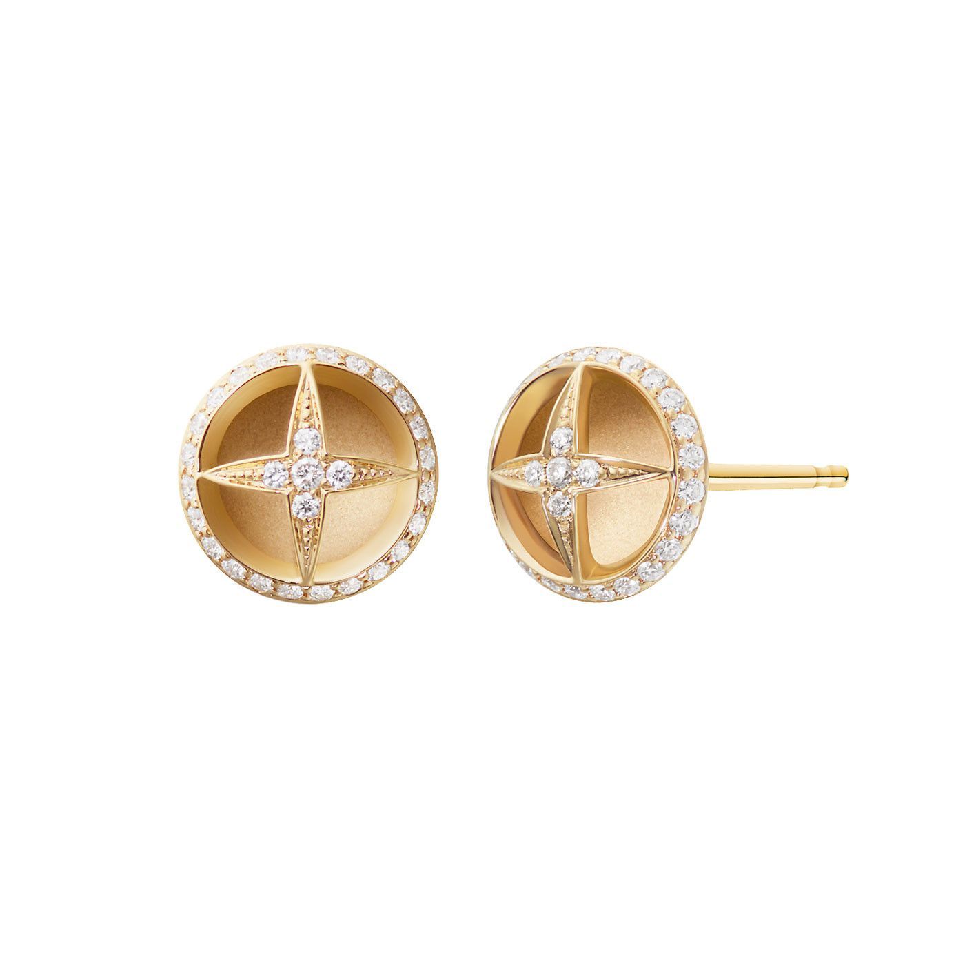 Melissakayejewelry laila earring in k yellow gold with