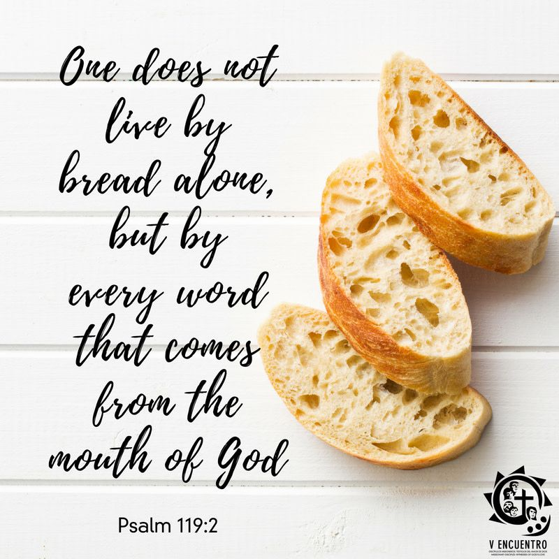 """Daily Readings """"One does not live by bread alone, but by"""
