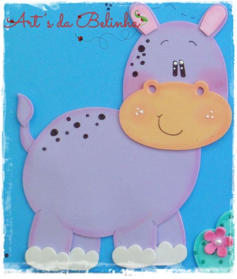 Molde De Hipopotamo Em Eva Com Imagens Trabalhos Manuais