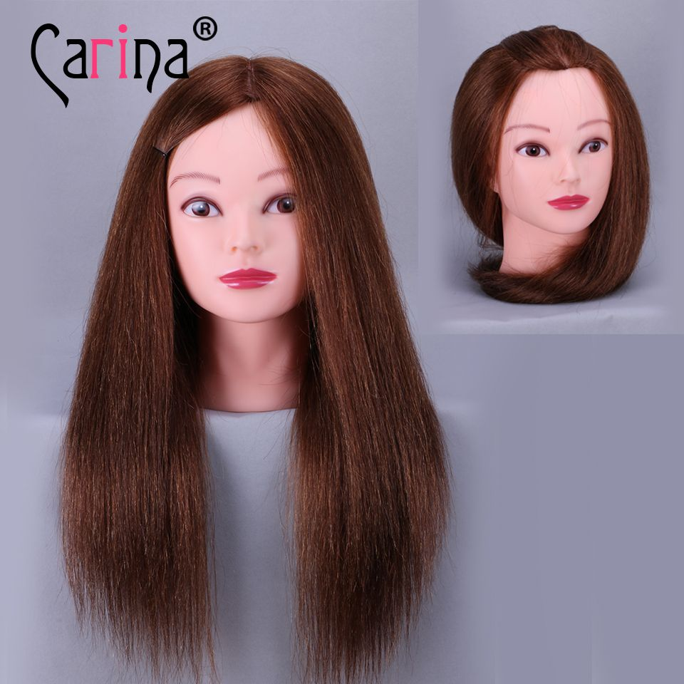 Top Selling 18inch 100 Real Human Hair Hairdressing Mannequin Dummy