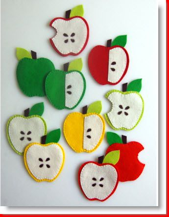 Mollys Sketchbook: Felt Apple Coasters