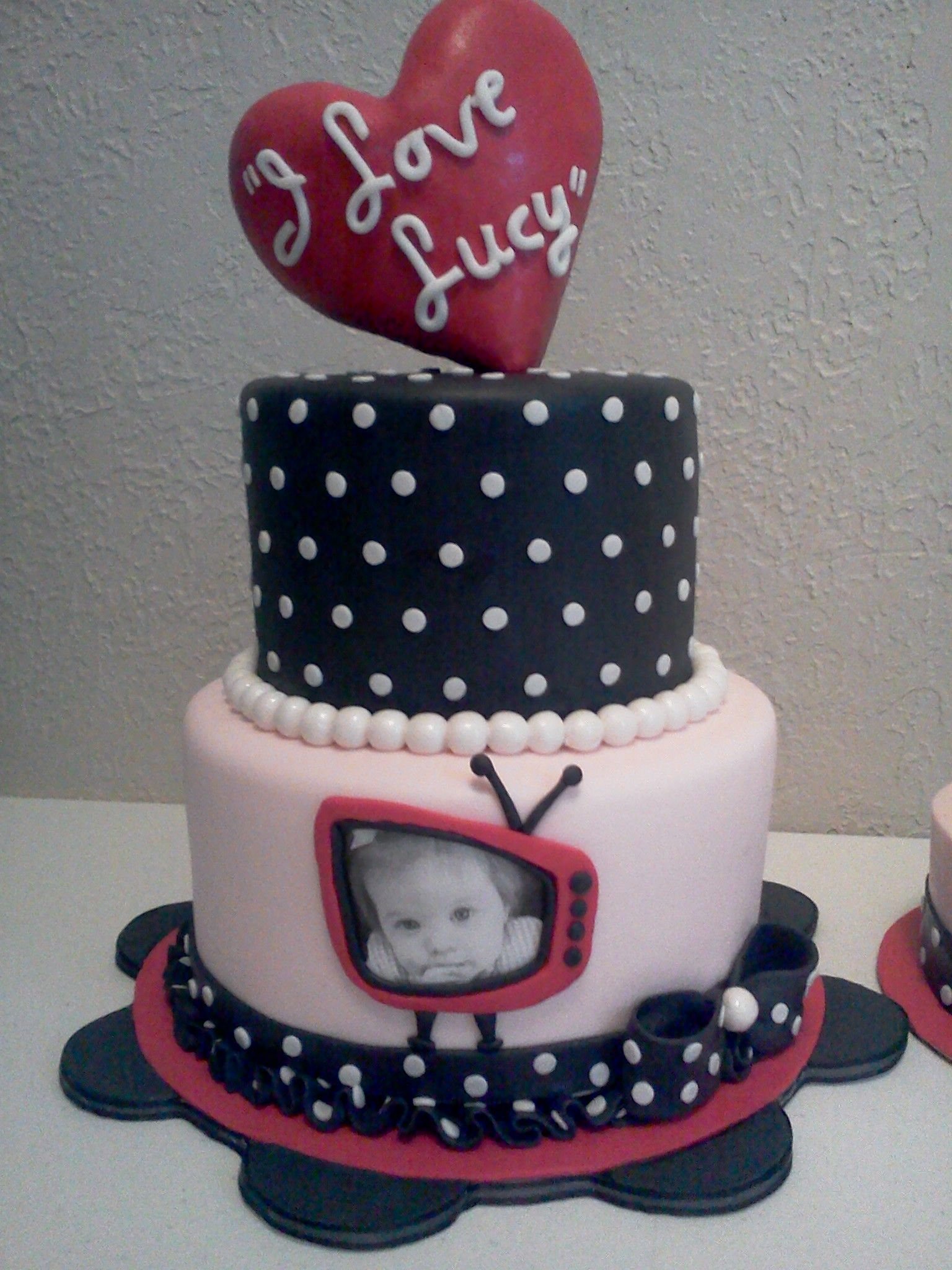 I love lucy cake made for a little girl named lucy