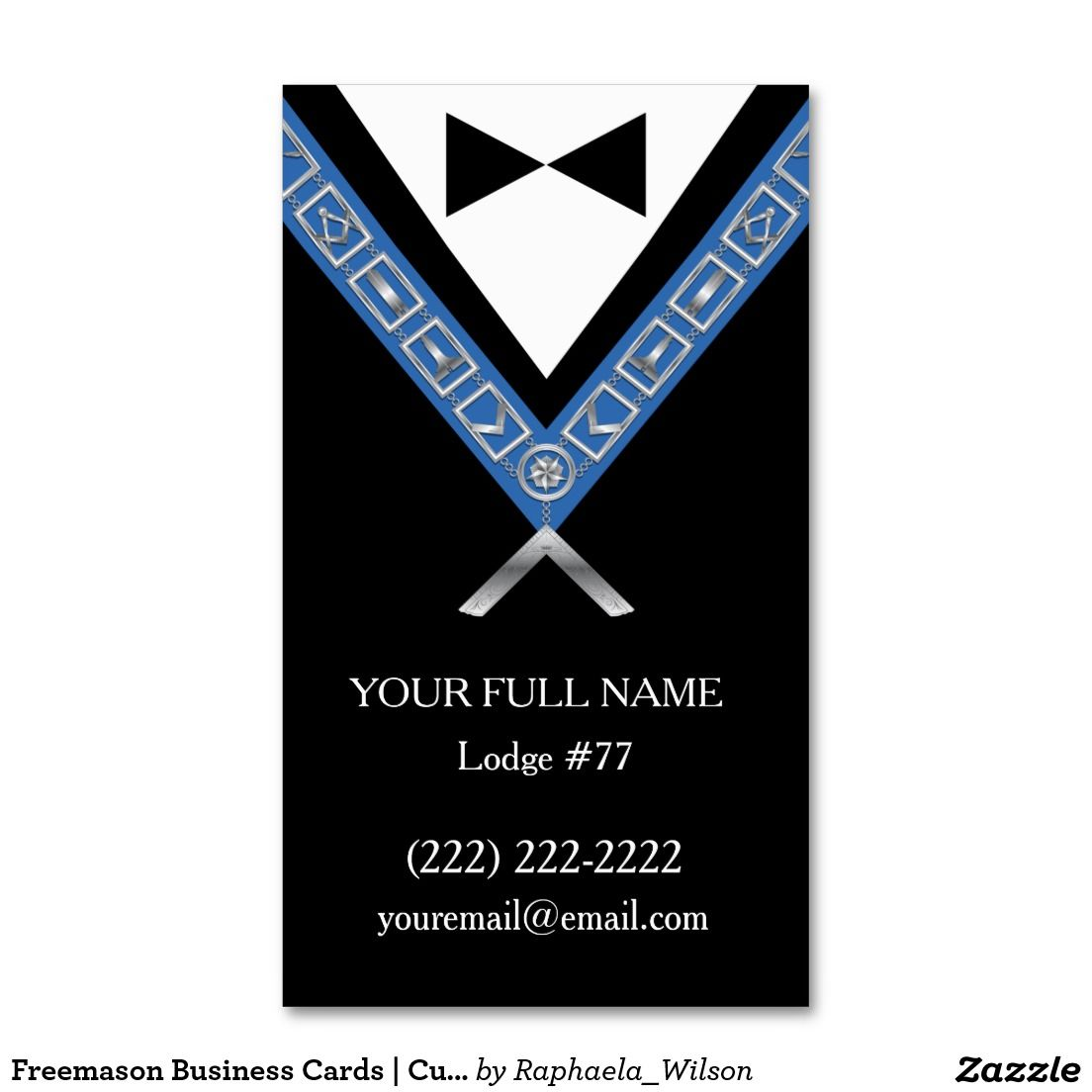 freemason business cards custom masonic template custom