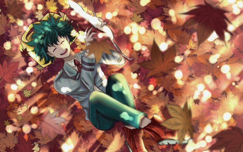 Wallpaper Izuku Midoriya Boku No Hero Academia Relaxed Hero Deku Boku No Hero Anime Artwork