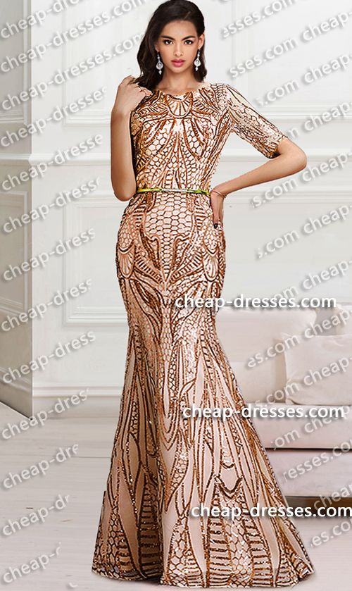 2913351abc177 unique metallic short sleeves mermaid sequined dress.prom dresses,formal  dresses,ball gown,homecoming dresses,party dress,evening dresses,sequin  dresses ...