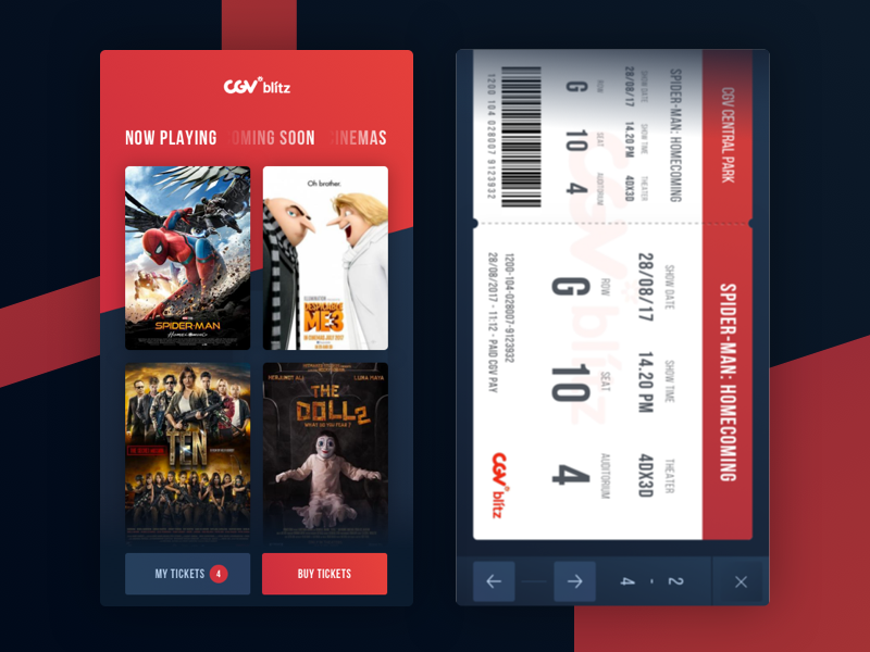 CGV Blitz - Redesign App Concept | UI / UX | Interface