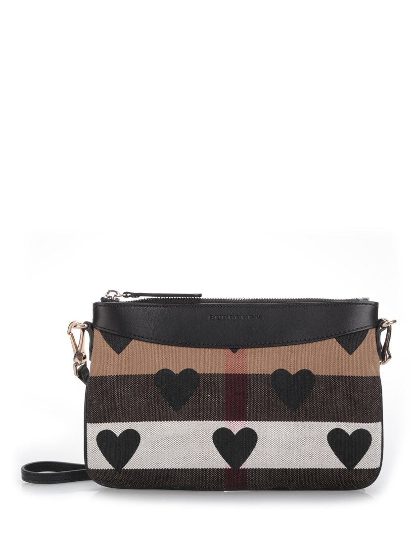 8a17bd8ade65 BURBERRY Heart Print House Check Crossbody.  burberry  bags  shoulder bags   leather