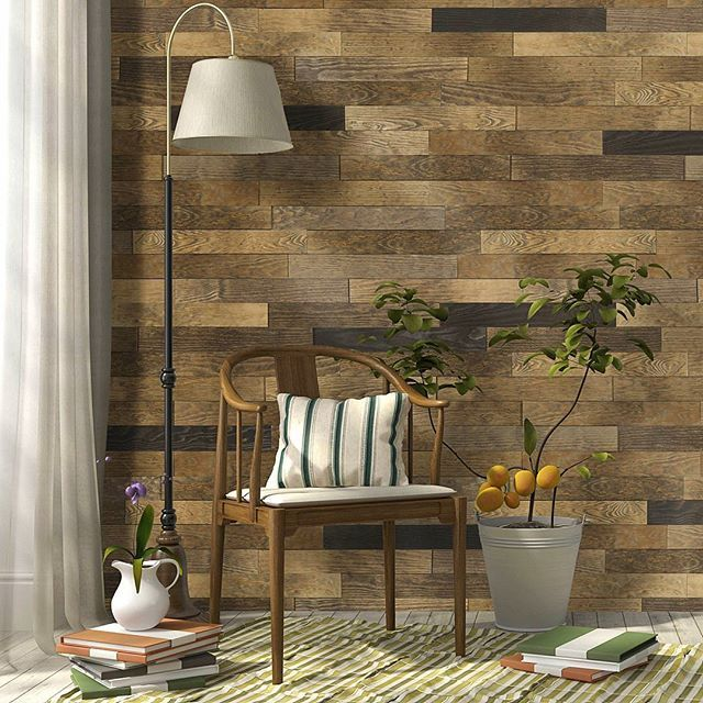 Peel And Stick Wood Wall Tiles Ideas To Create A: Discover Timberwall's Peel & Stick Wood Panels. Made Of