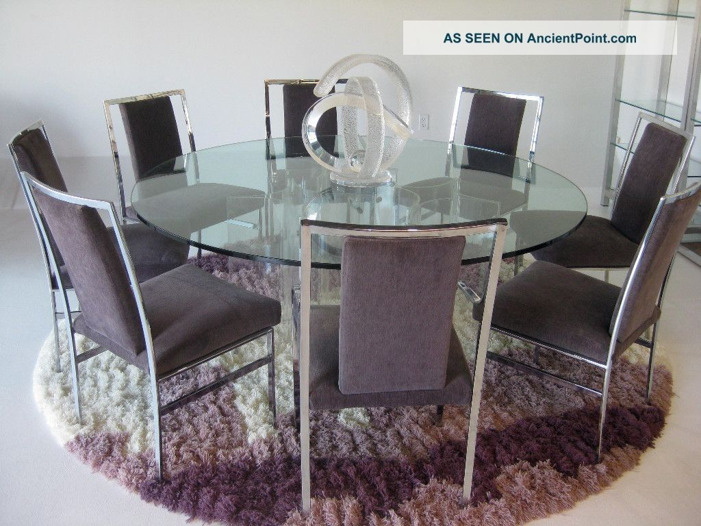 Round Gl Dining Table 8 Chairs