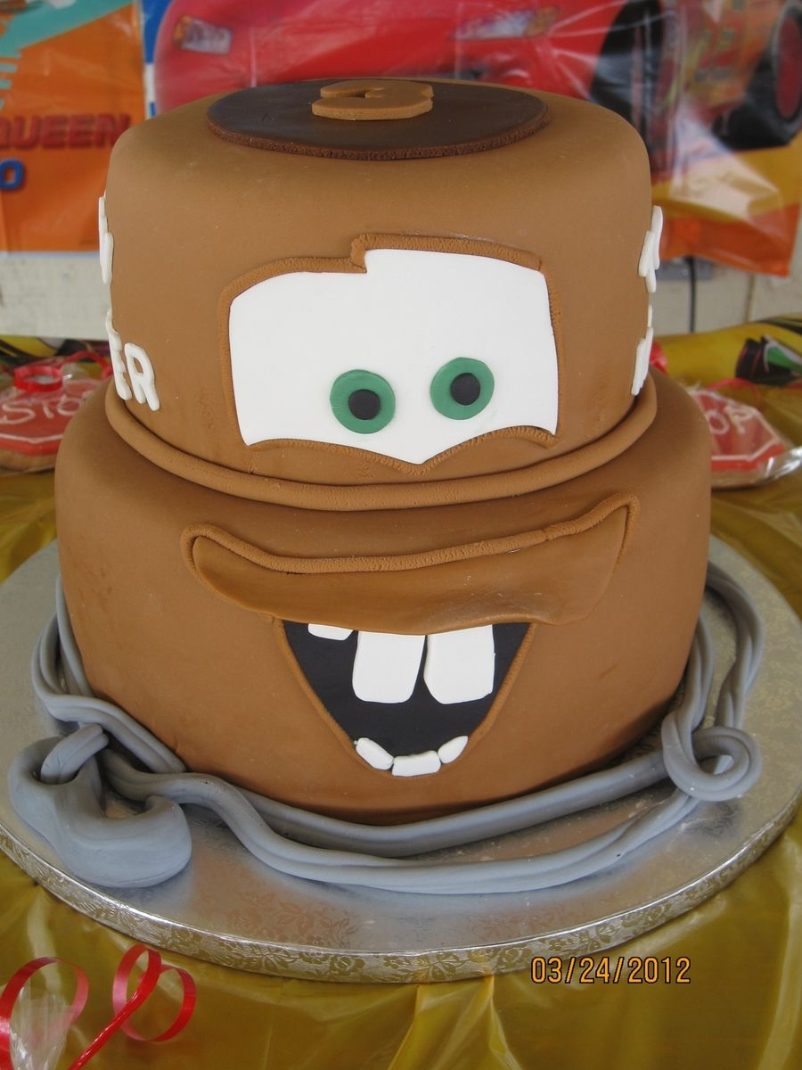 Fabulous Tow Mater With Images Disney Cars Cake Disney Cakes Funny Birthday Cards Online Alyptdamsfinfo
