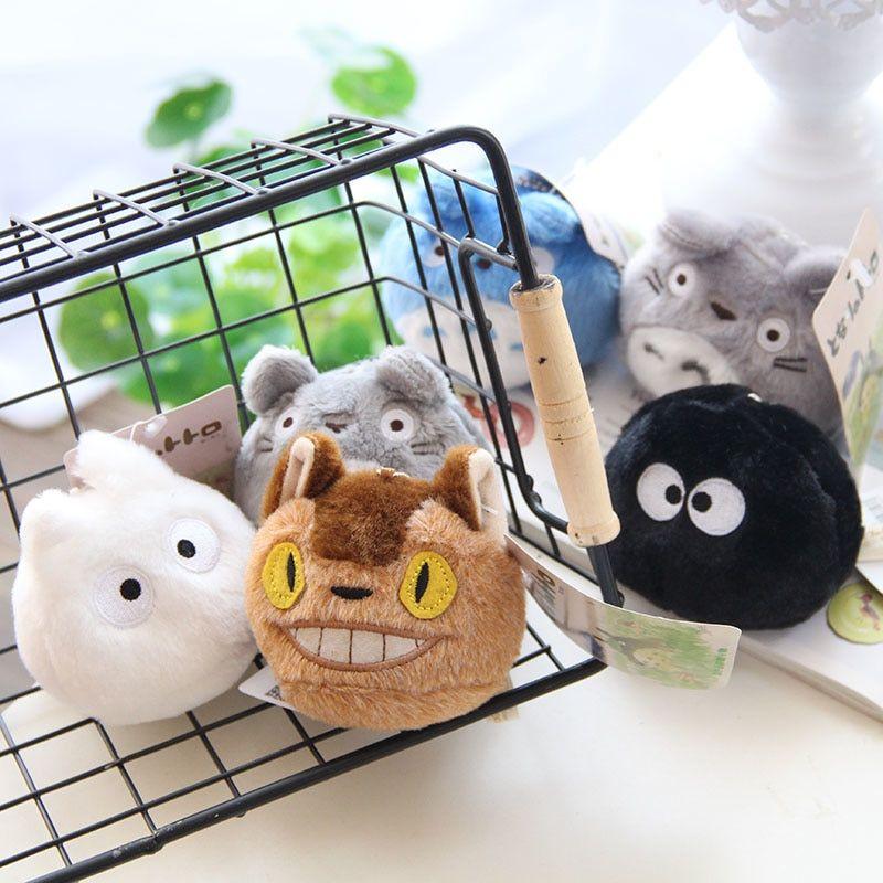 Cute Mini Totoro Plush Toy Japanese Anime Plush Keychain Stuffed