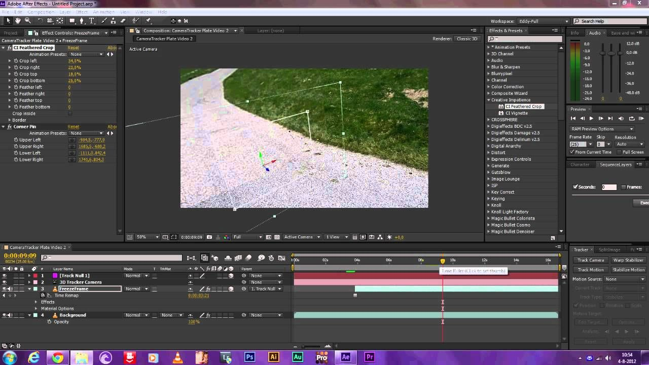 Tutorial: After Effects:  3D Freeze-Frame Video Tutorial (After Effects) (CorridorDigital Photoreal Effect.)