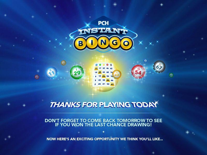 Game Play | PCH Instant Bingo love bingo play pch bingo its